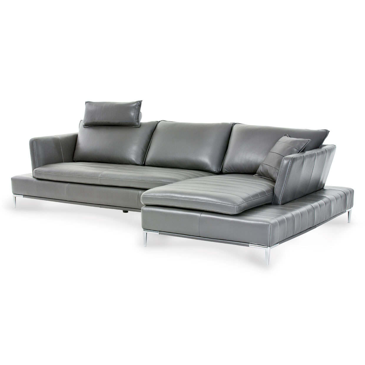 Lazzio 2 Pc Leather Sectional Set - Living Story - London